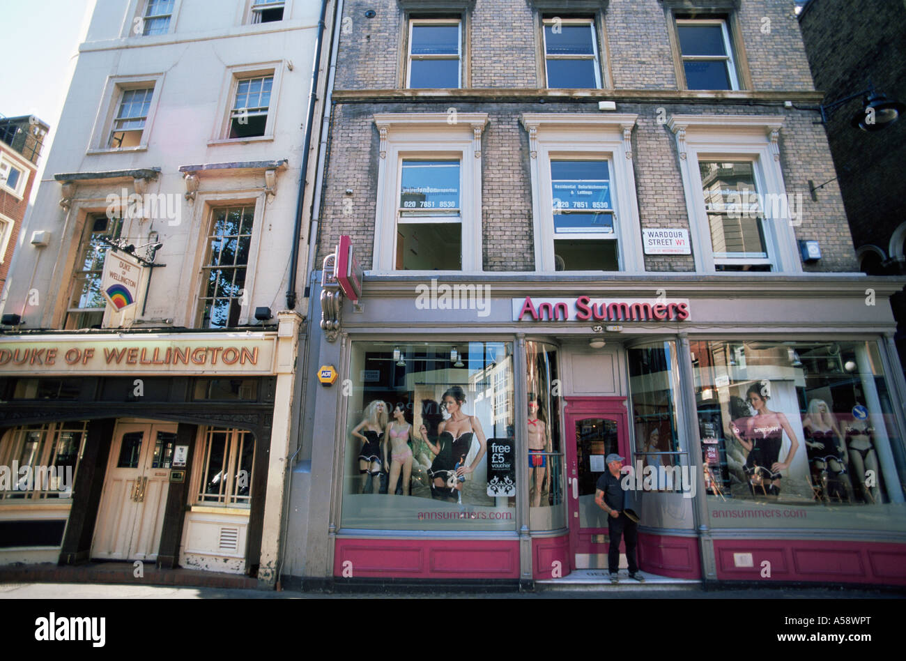 England, London, Soho, Wardour Street, Street Scene - Stock Image