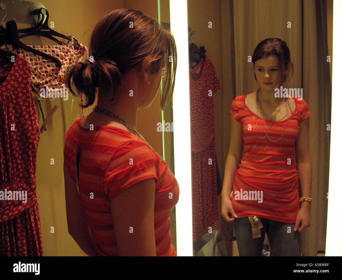 Teen Girl Changing Clothes