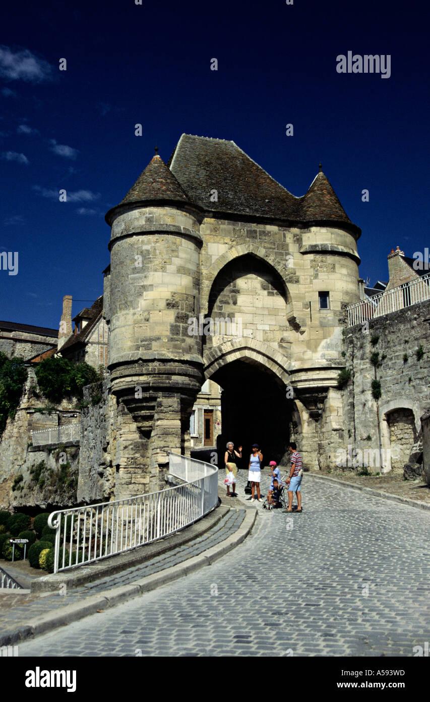 La Port D Ardon gateway hilltop town of Laon in Picardy France Stock Photo
