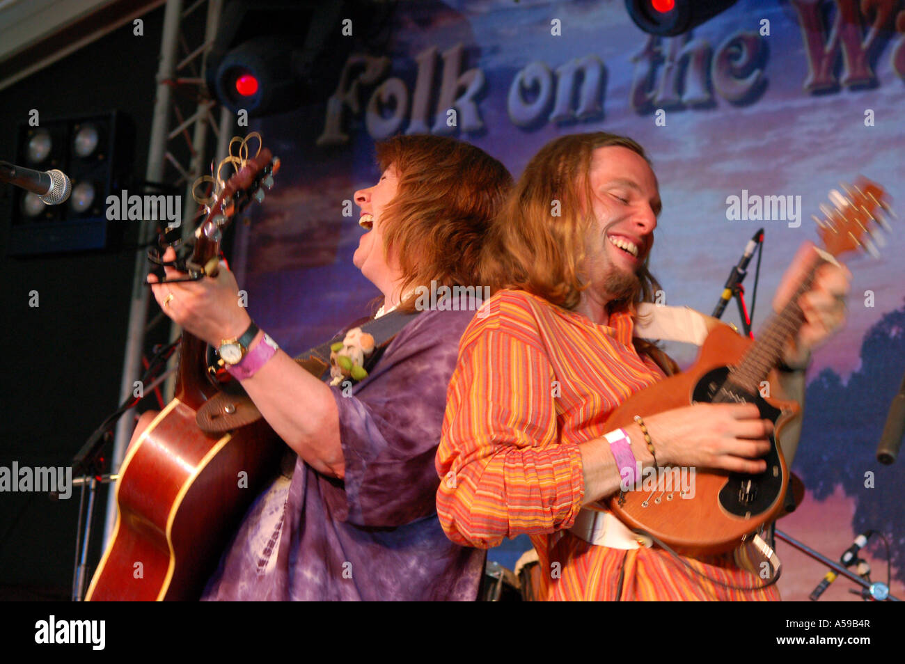 Magna Carta on stage at 'Folk on the Water' Gloucestershire June 2006 - Stock Image