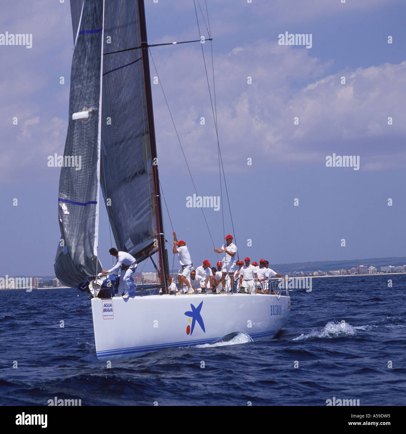 Bribon in IMS 500 category skippered by His Majesty King Juan Carlos of Spain during 22nd Copa Del Rey Kings Cup Regatta 2003 - Stock Image