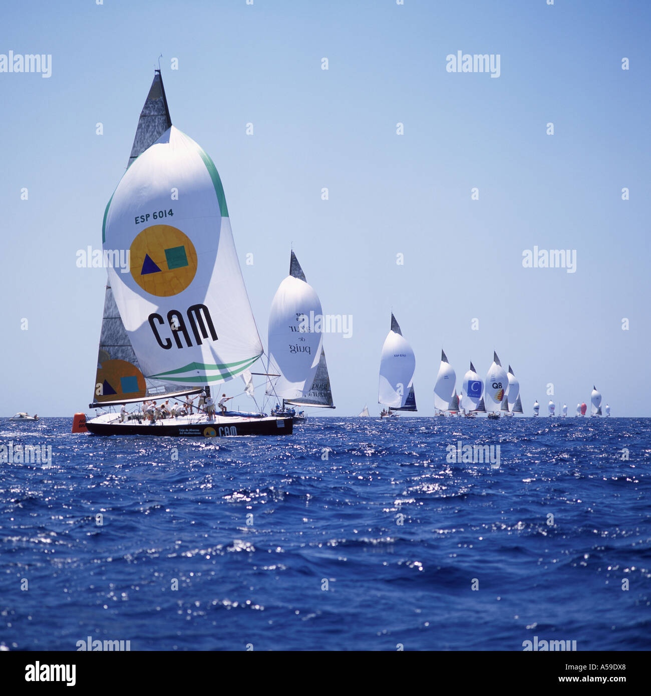 CAM in IMS 500 category rounding buoy during the 22nd Copa Del Rey Kings Cup Regatta 2003 in the Bay of Palma de Mallorca Balear - Stock Image
