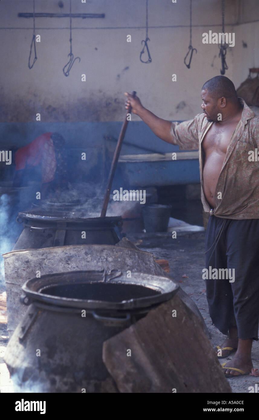 stone town zanzibar afrique tanzanie catering - Stock Image