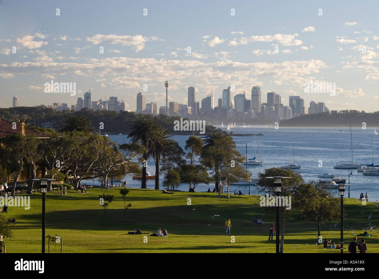 Sydney from Watsons Bay - Stock Image
