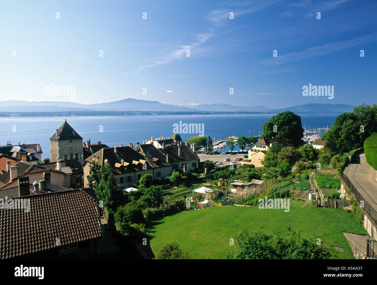 Nyon, Lake Geneva, Switzerland - Stock Image