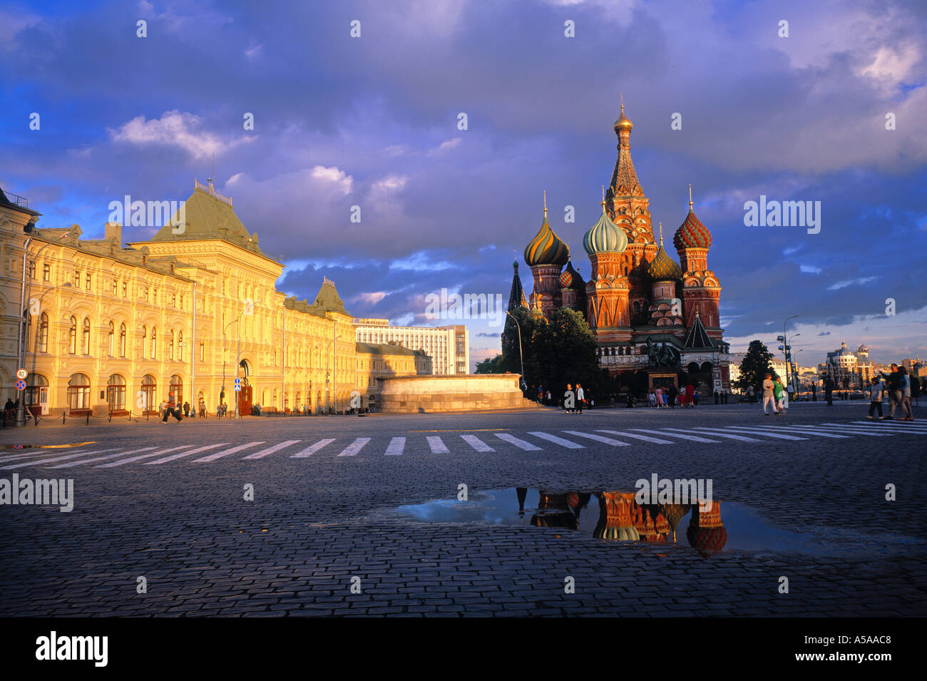 St. Basil's cathedral, Red Square, Moscow, Russia - Stock Image