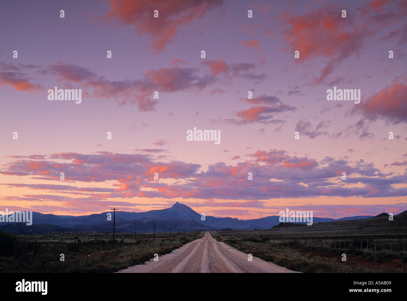 Road, The Karoo, Eastern Cape, South Africa - Stock Image