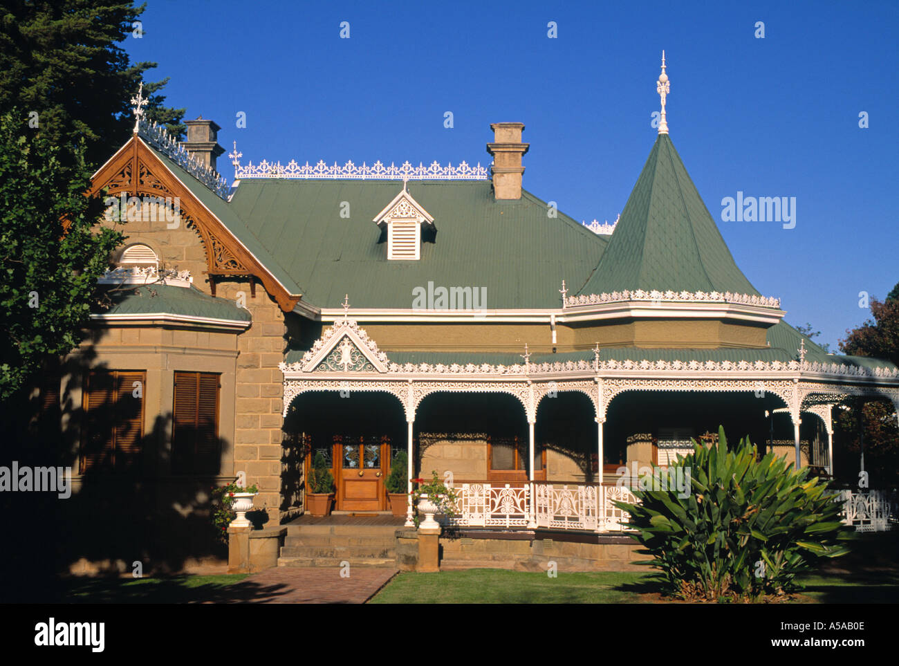 Mimosa Lodge, Oudtshoorn, Klein Karoo, Cape Province, South Africa - Stock Image