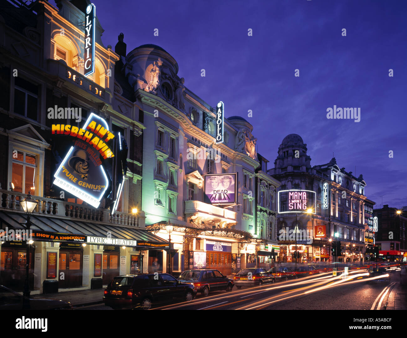 Theatreland, Shaftesbury Avenue, London, England - Stock Image