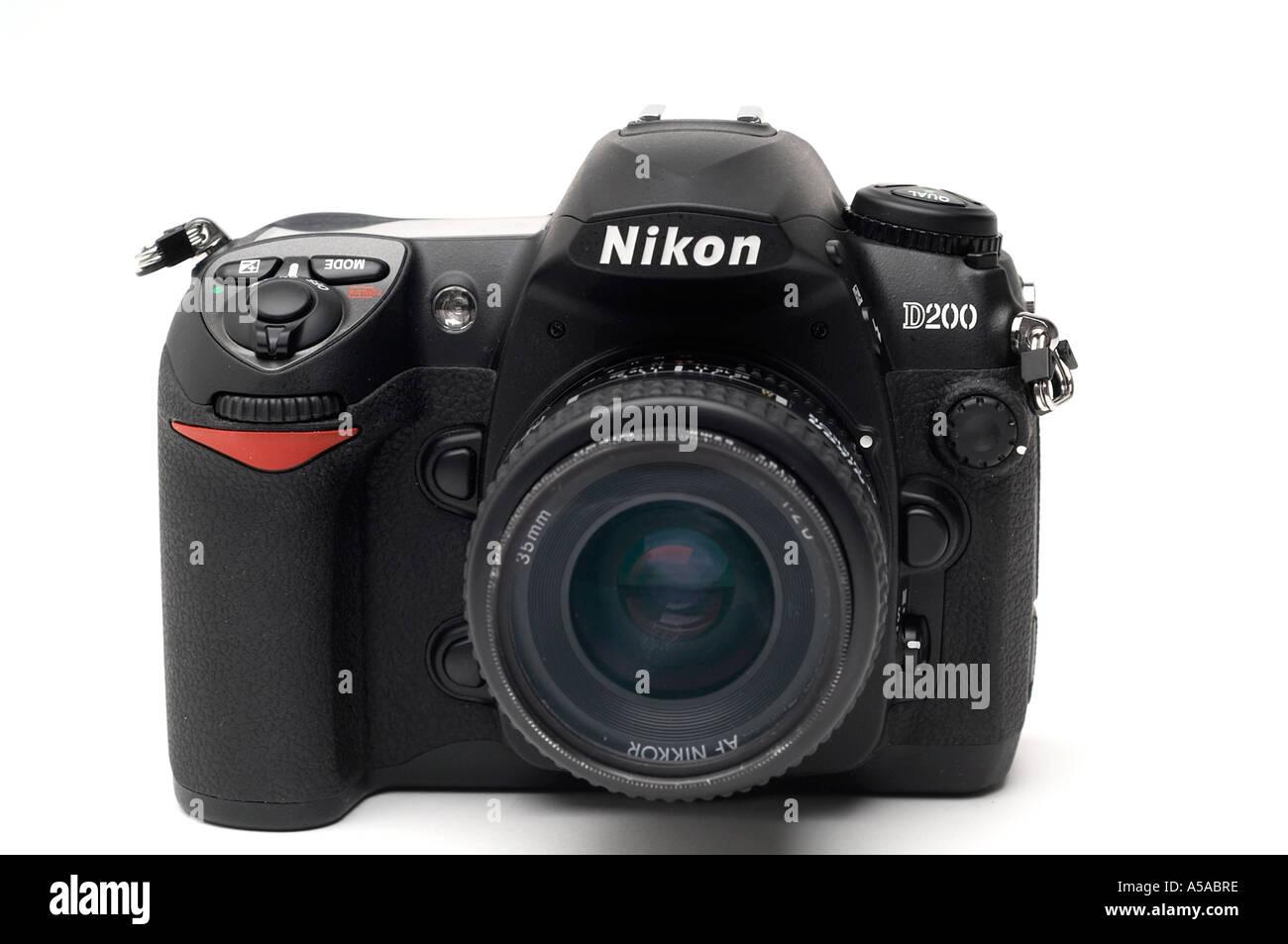 Nikon D200 digital SLR camera - Stock Image
