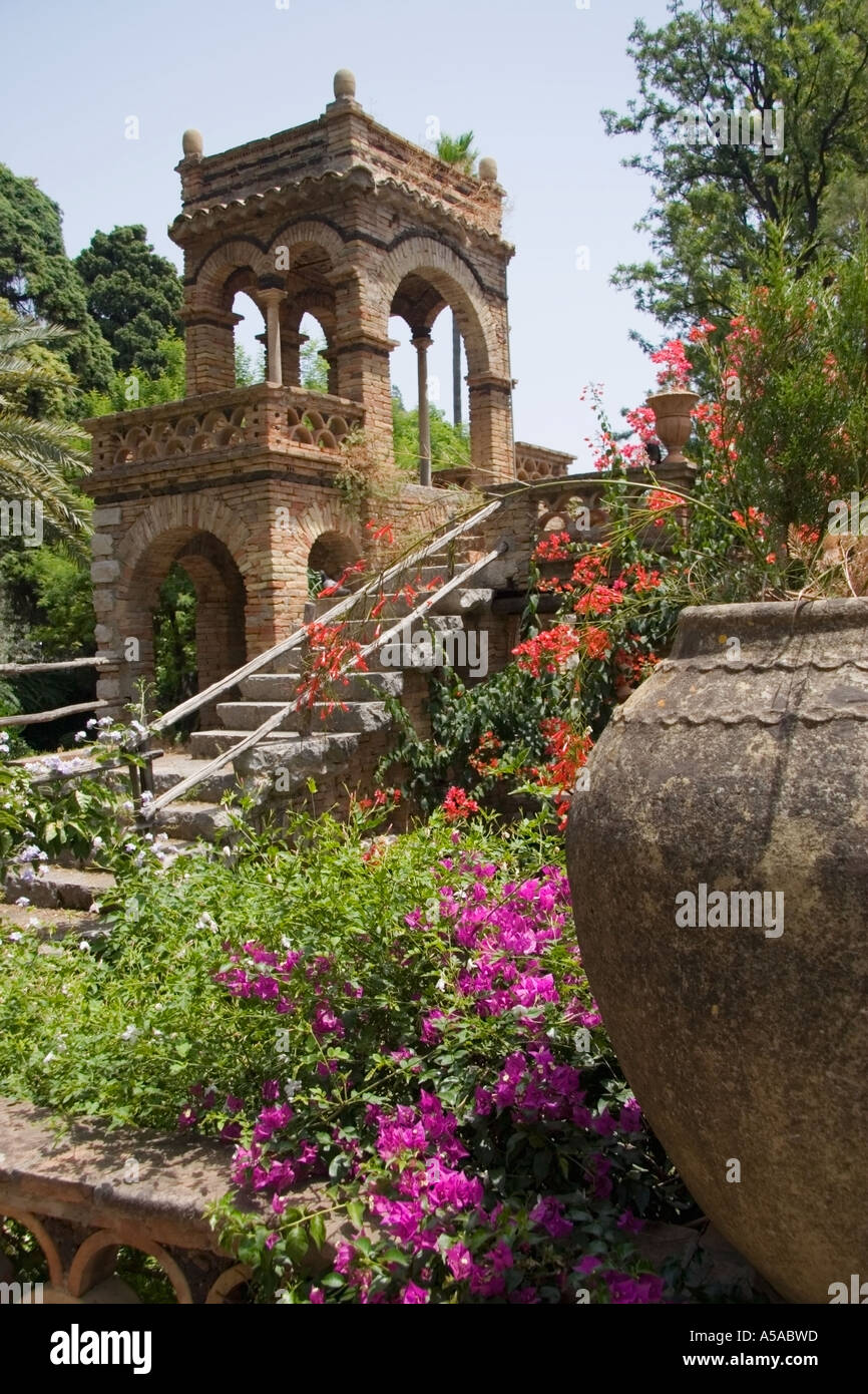 The 18th Century Trevelyan Gardens in Taormina Sicily southern Italy ...