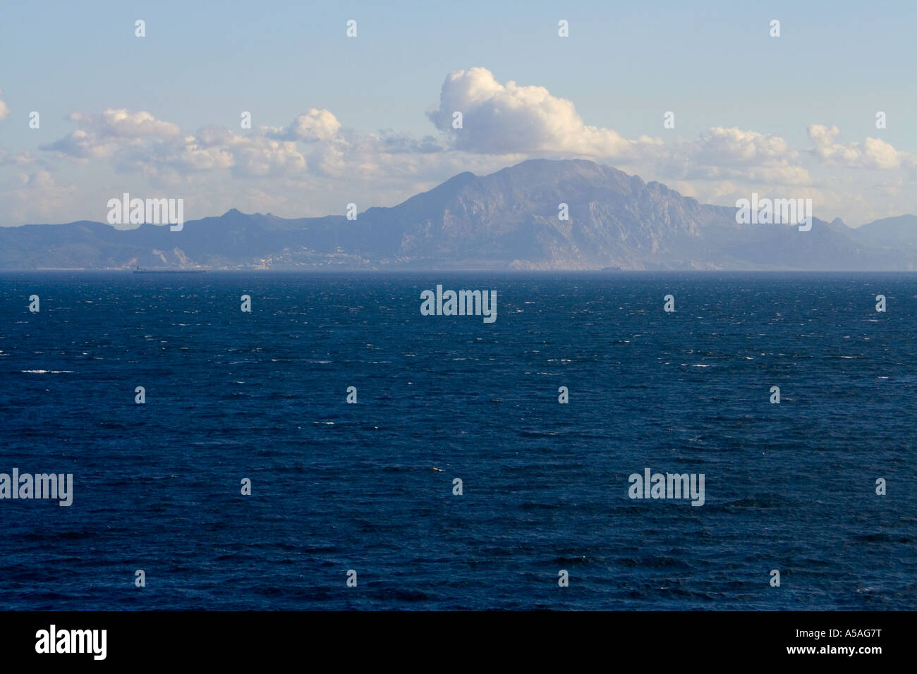 African coast seen from Gibraltar Stock Photo