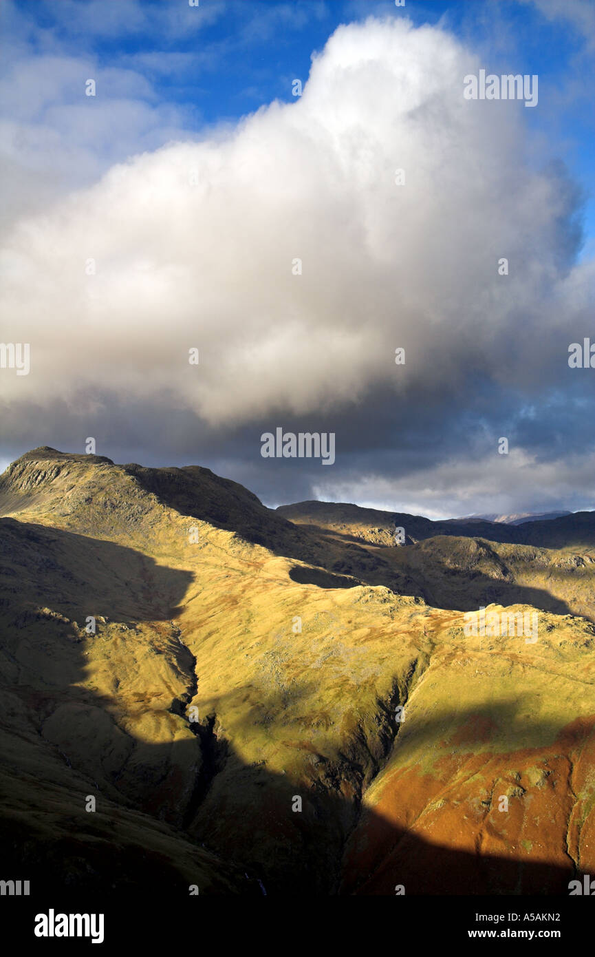 Bow Fell and the Strand from the Pike of Blisco - Stock Image