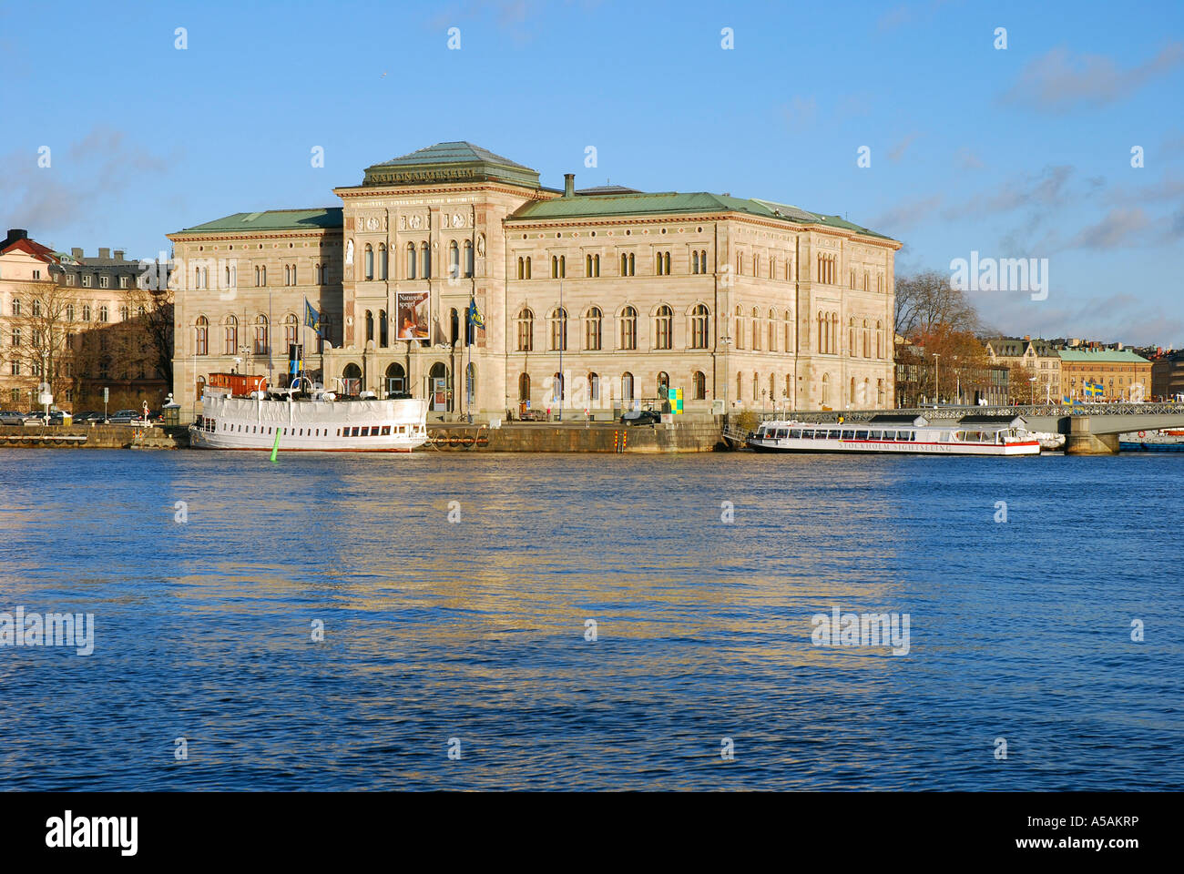 The National Museum of Fine Arts in Stockholm, Sweden, is beautifully situated by the Baltic Sea - Stock Image