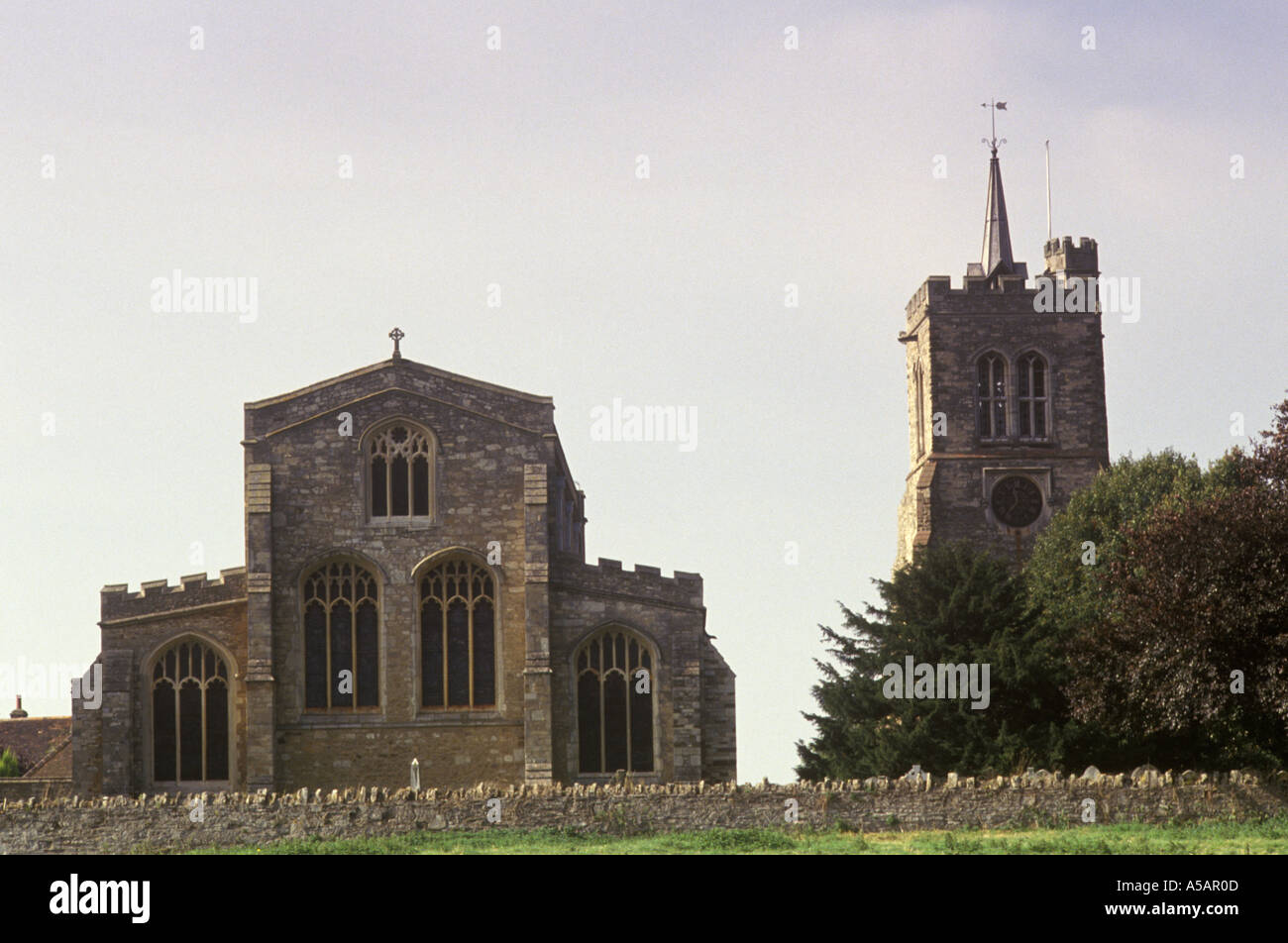 John Bunyan Elstow Abbey Church near nr Bedford Bedfordshire PHOTO HOMER SYKES - Stock Image