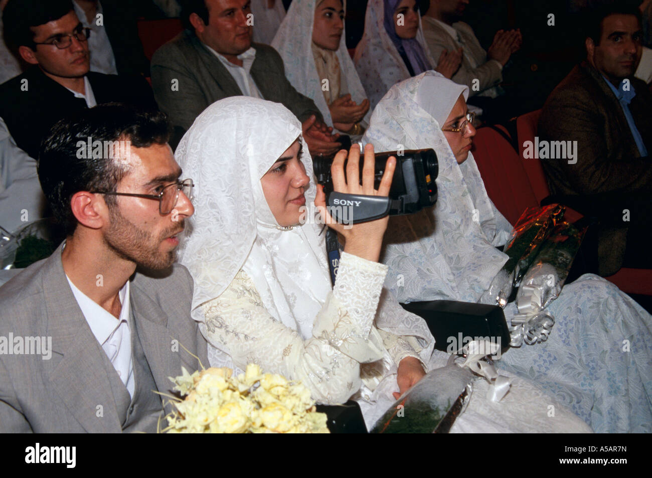 A mass wedding in Tehran Iran - Stock Image