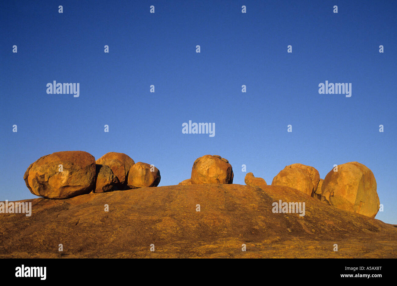 stones at the site of Cecil Rhodes grave. Matopos, Zimbabwe, Africa - Stock Image