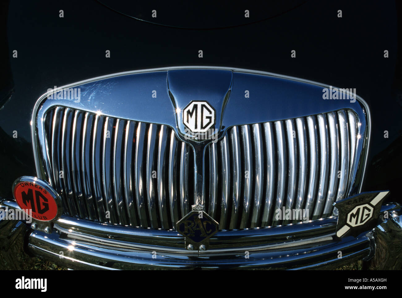 MG A Convertible 1500. English car manufacturer - Stock Image