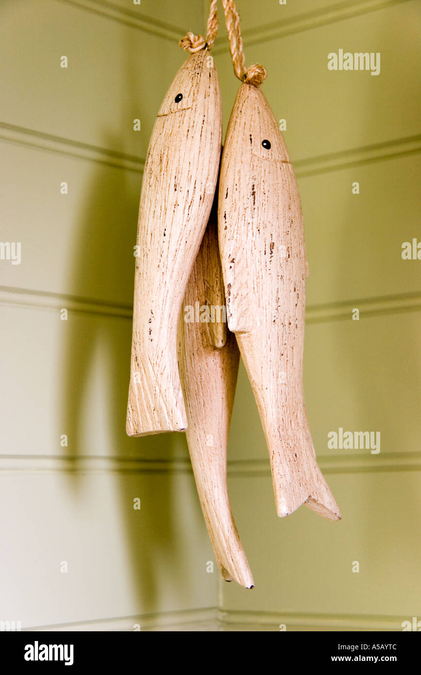 Wood Carved Fish Decoration Stock Photos & Wood Carved Fish ...