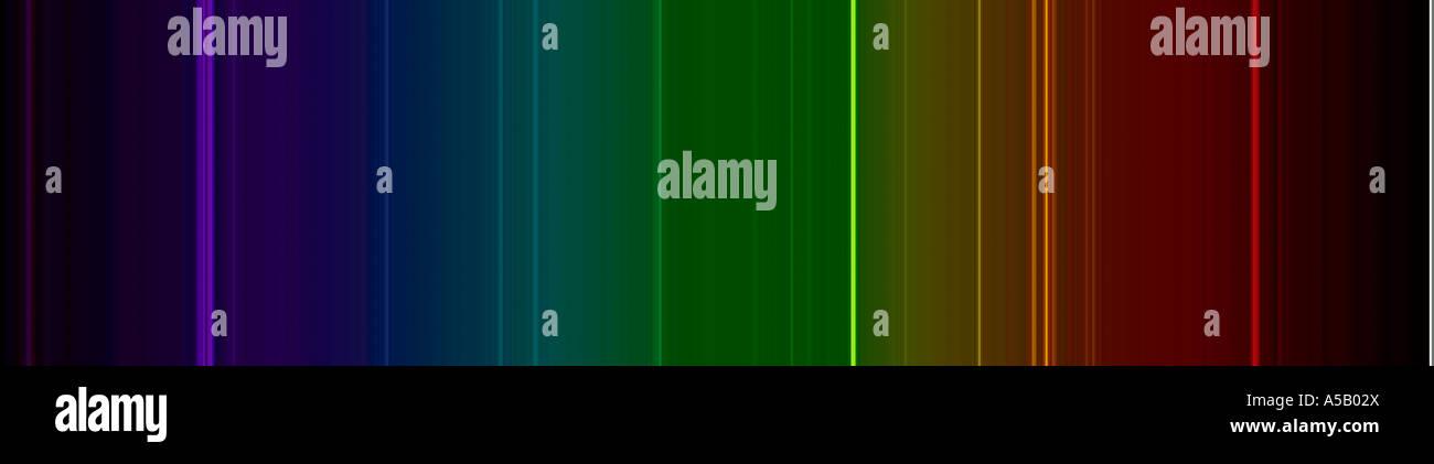 Emission spectrum for mercury vapor - Stock Image