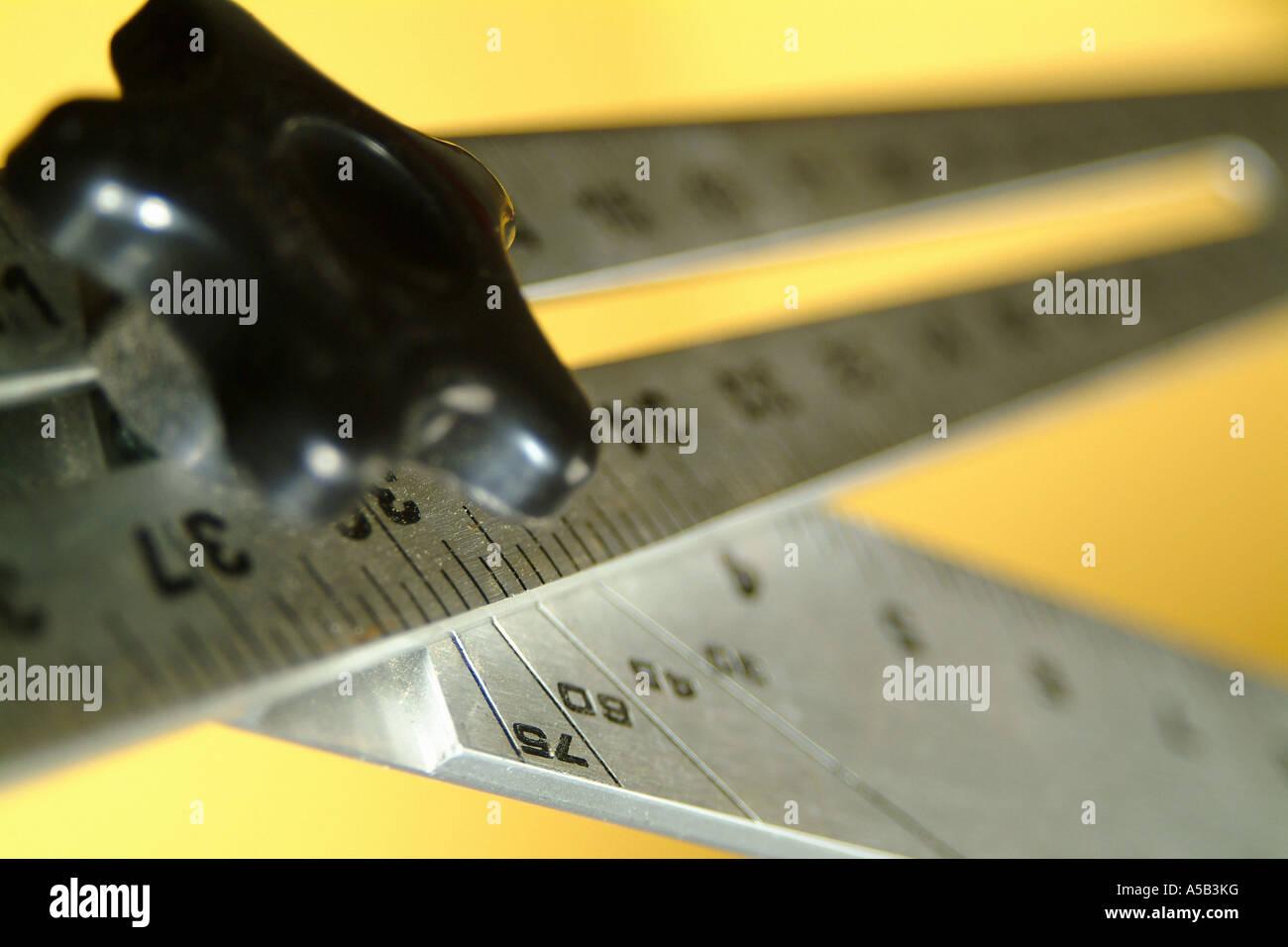 Angle measurement tool. - Stock Image