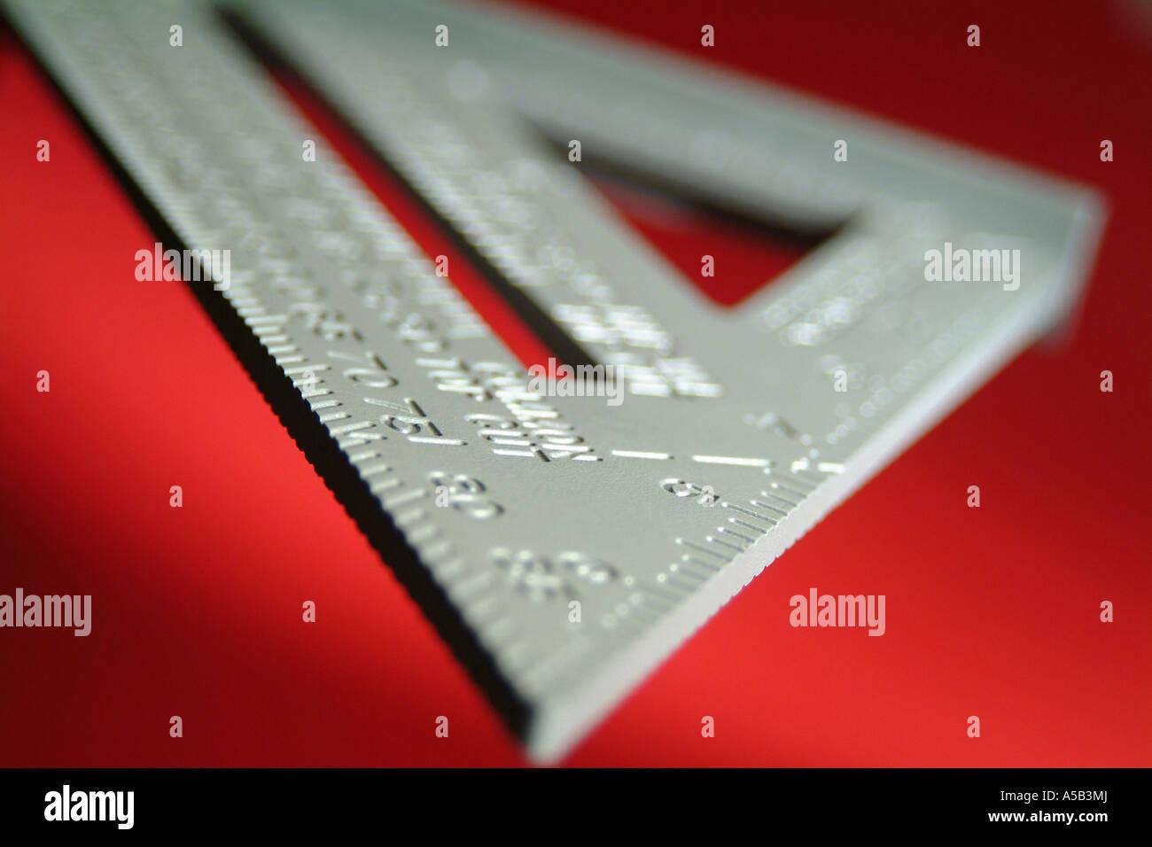 Triangular measuring tool. - Stock Image