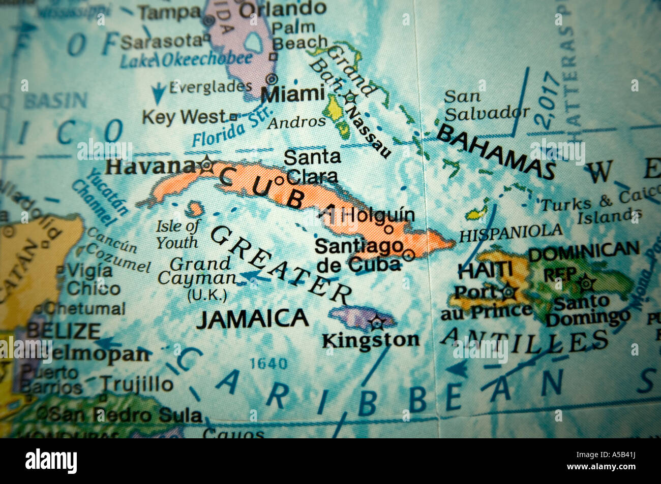 Caribbean map on a globe stock photo 11256461 alamy caribbean map on a globe gumiabroncs Image collections