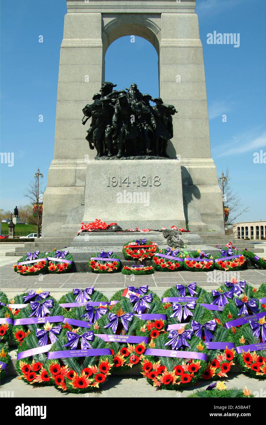 Ottawa's National War Memorial. - Stock Image