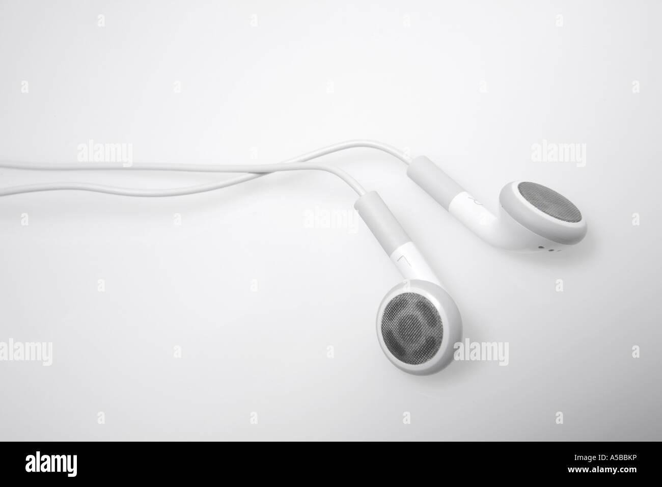 Ipod MP3 Player Earbuds - Stock Image