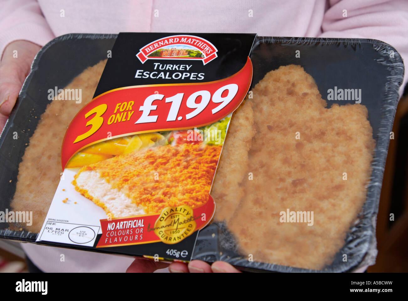 Bernard Matthews turkey escalopes value pack Stock Photo