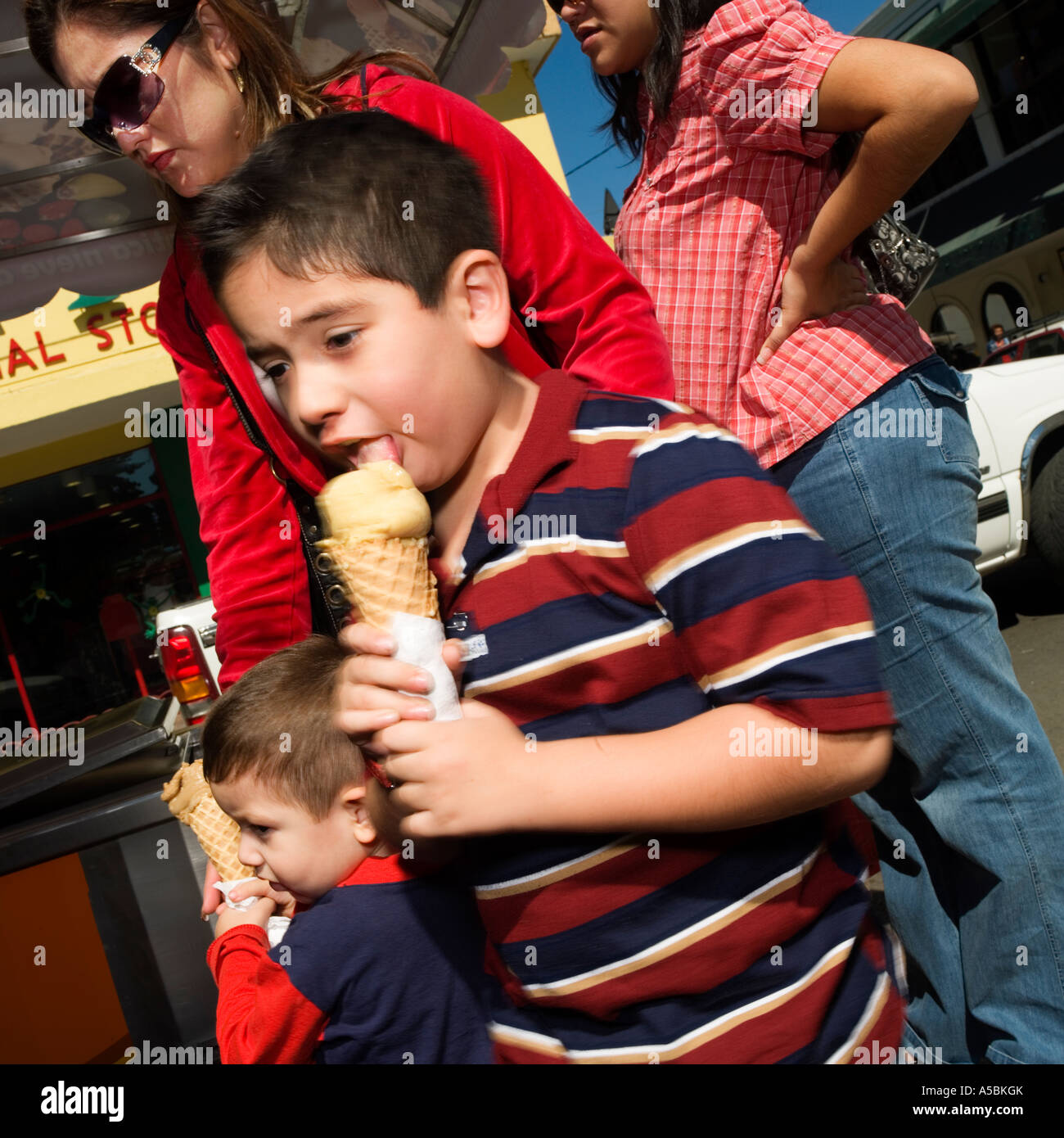 Ice Cream boy - Stock Image