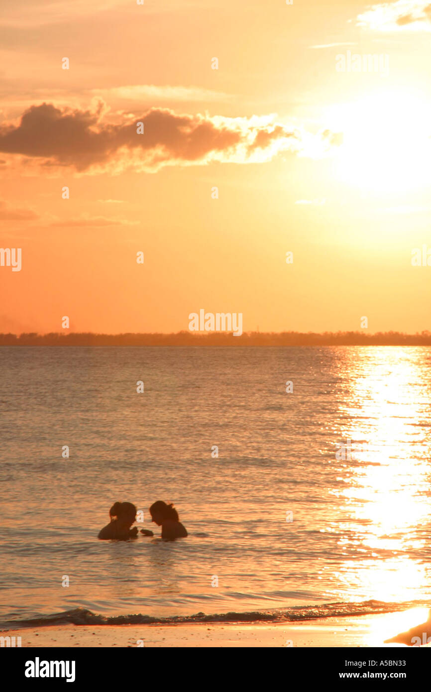 A view off the coast of Fort Myers Beach in South West Florida  - Stock Image