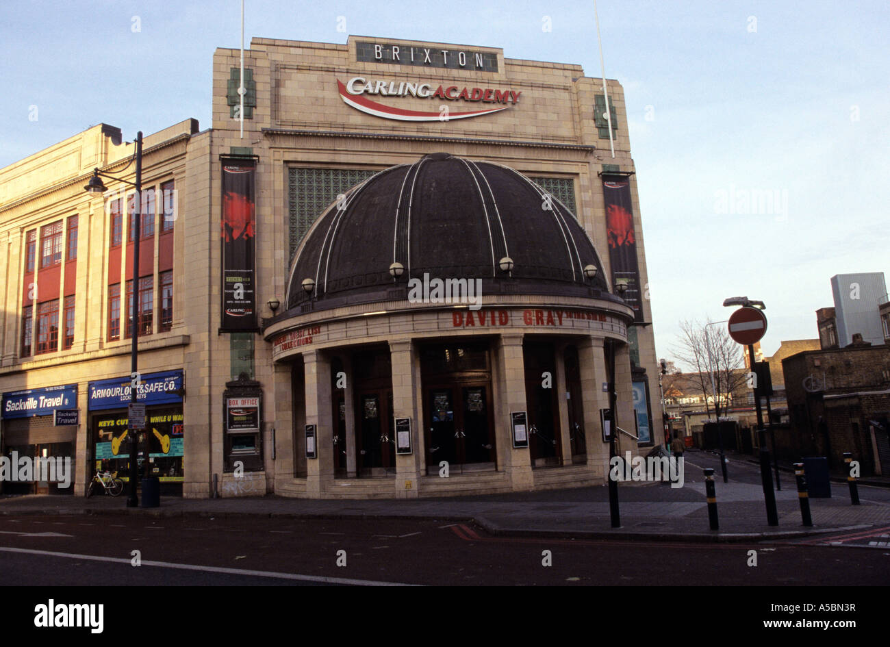 A scene outside one of the biggest non arena venues in London the Carling Brixton Academy Stock Photo