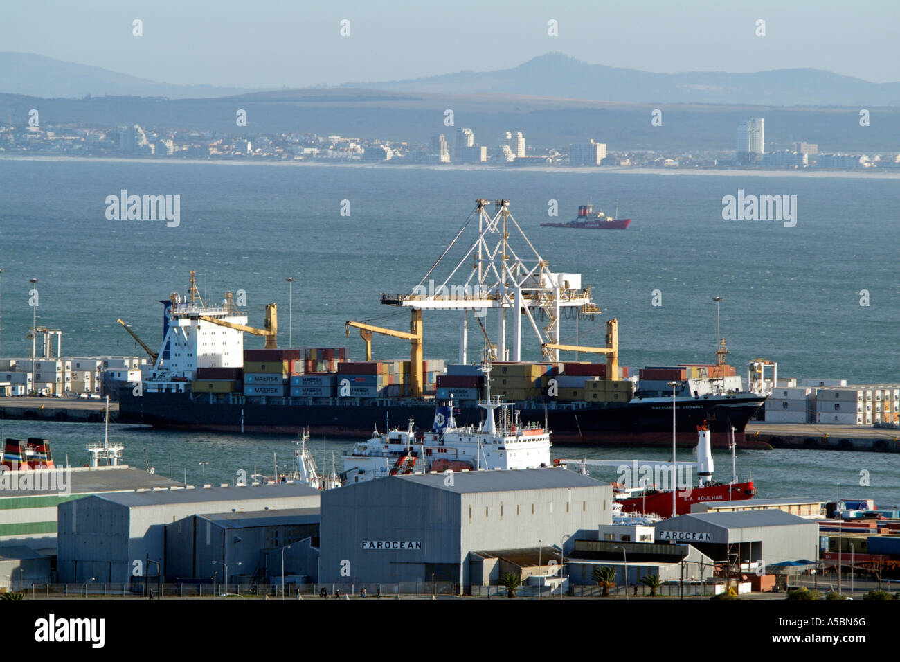 Port of Cape Town South Africa Safmarine Gonubie container ship Stock Photo