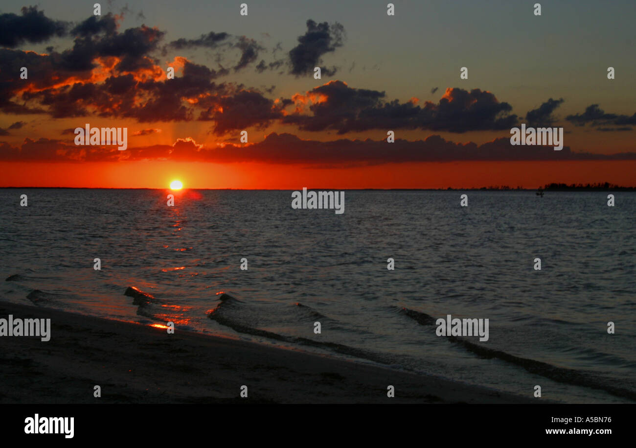 A view off the coast near Sanibel Island in South West Florida  - Stock Image