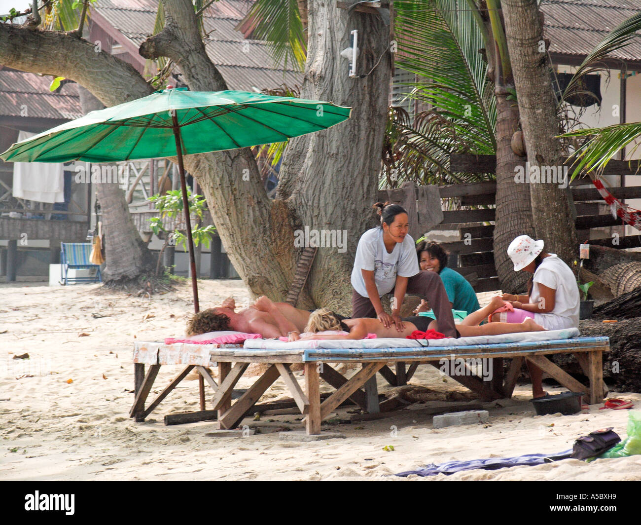 Massage and pedicure for holidaymaker visitors Lamai Beach