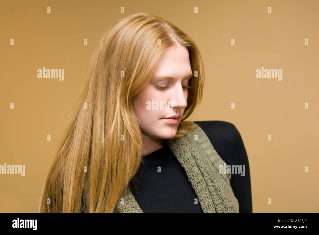 Blond model in her early 20s - Stock Image
