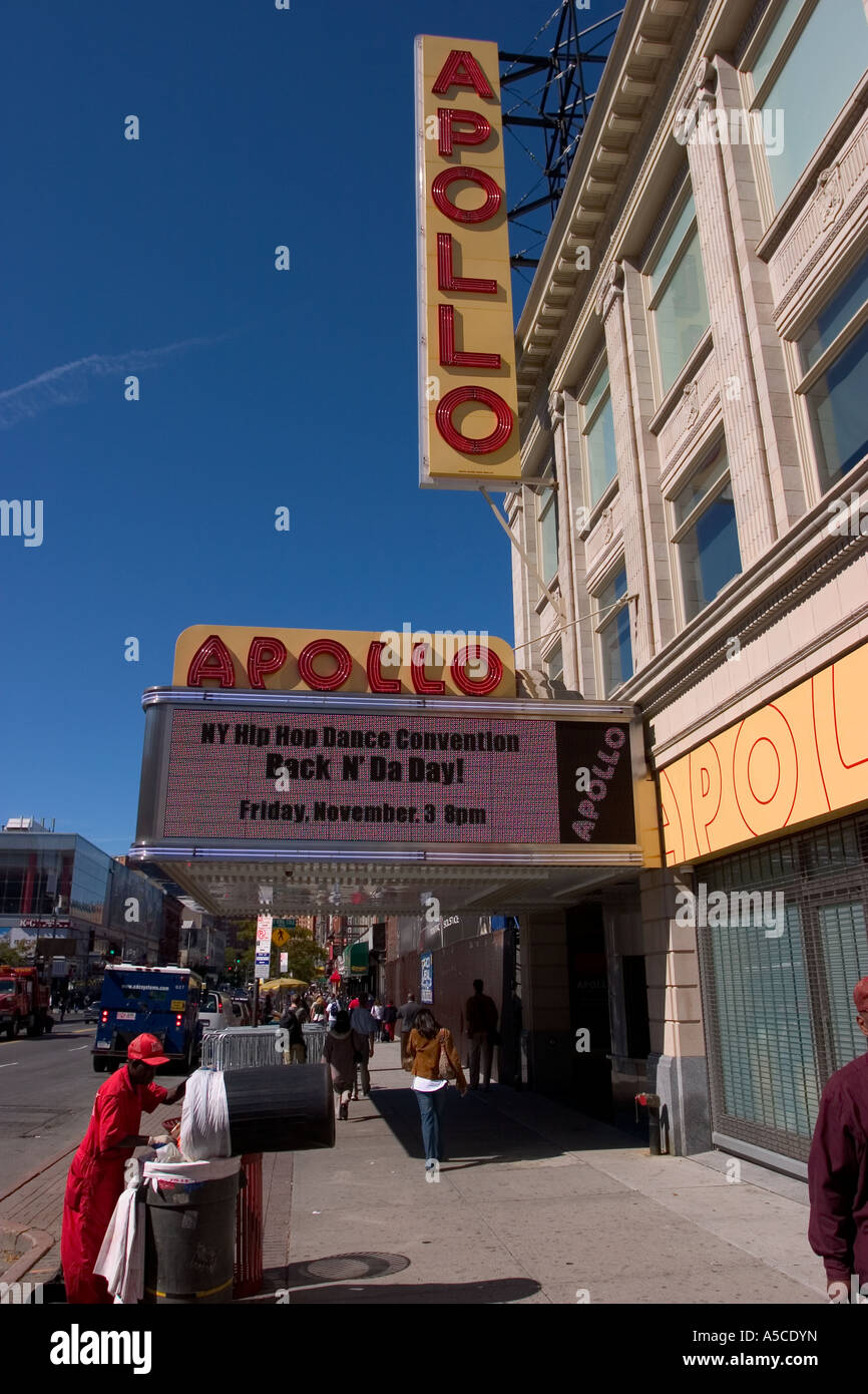 Cinema Movie Theater In Harlem New York City USA Manhattan