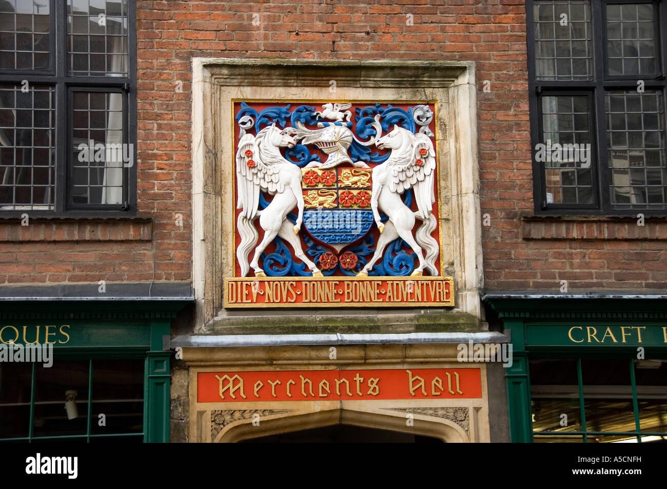 Merchant Adventurers Hall Fossgate York North Yorkshire England UK United Kingdom GB Great Britain - Stock Image