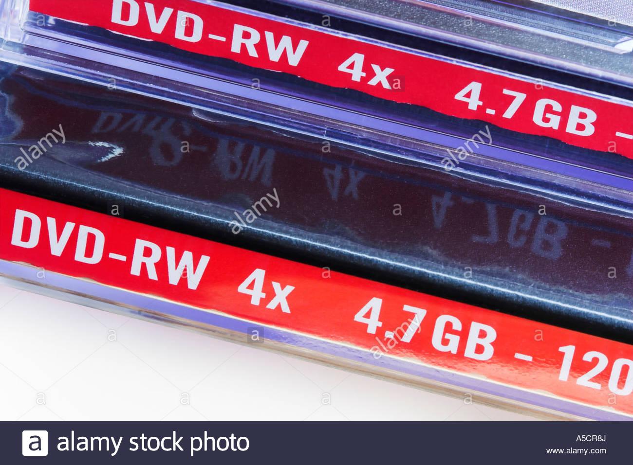 DVD-RW cases - Stock Image