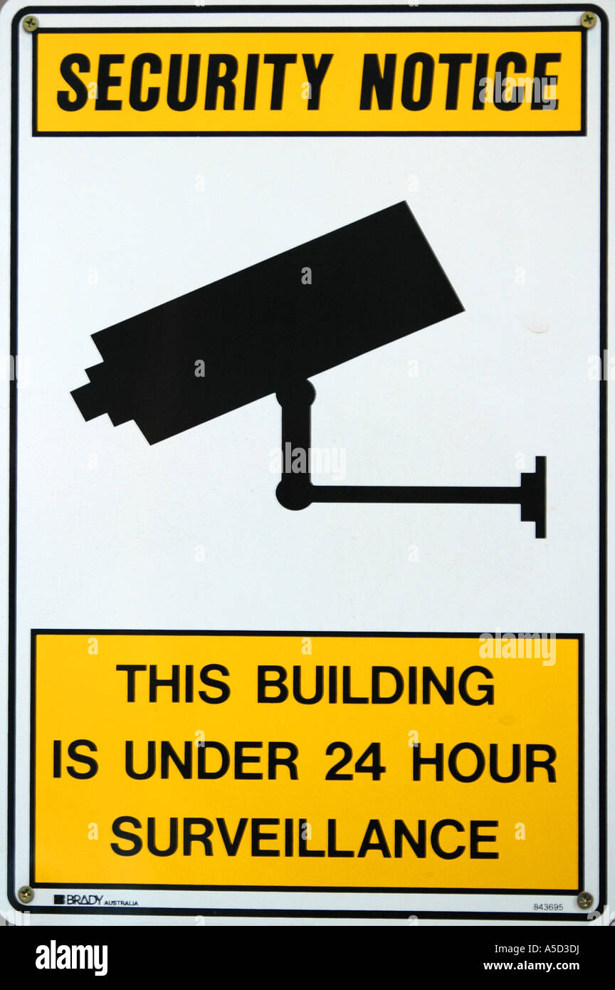 Security notice - Stock Image