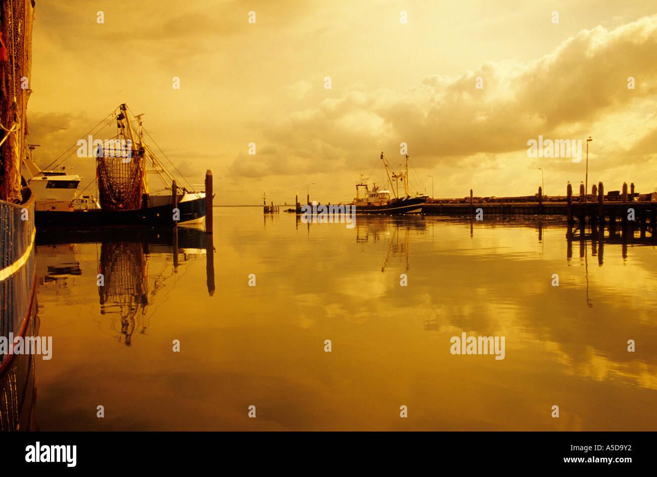 Harbour of Colijnplaat, Noord Beveland, Zeeland, Netherlands - Stock Image