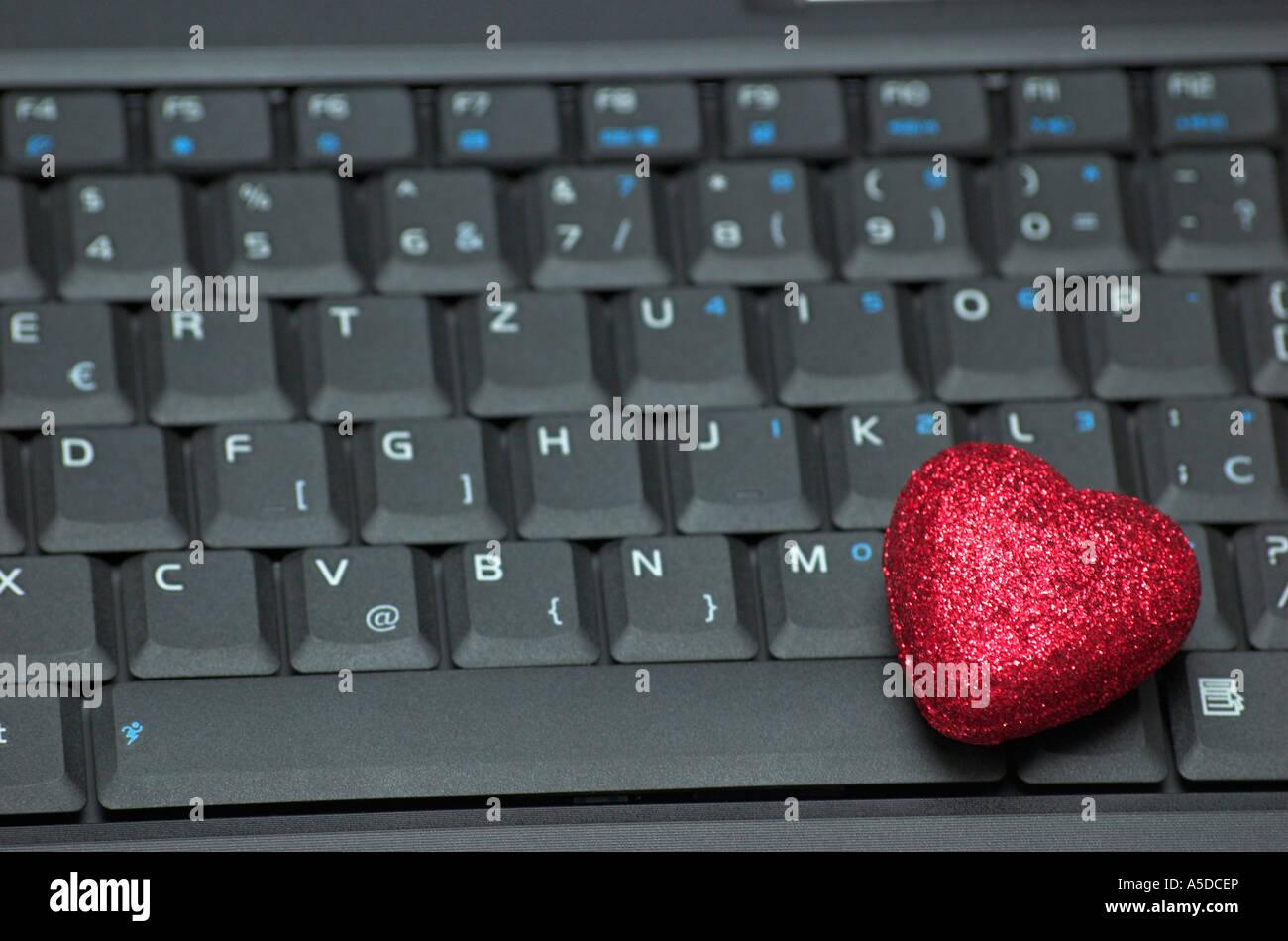 Heart Shape Symbol On Computer Keyboard Stock Photo 11278125 Alamy
