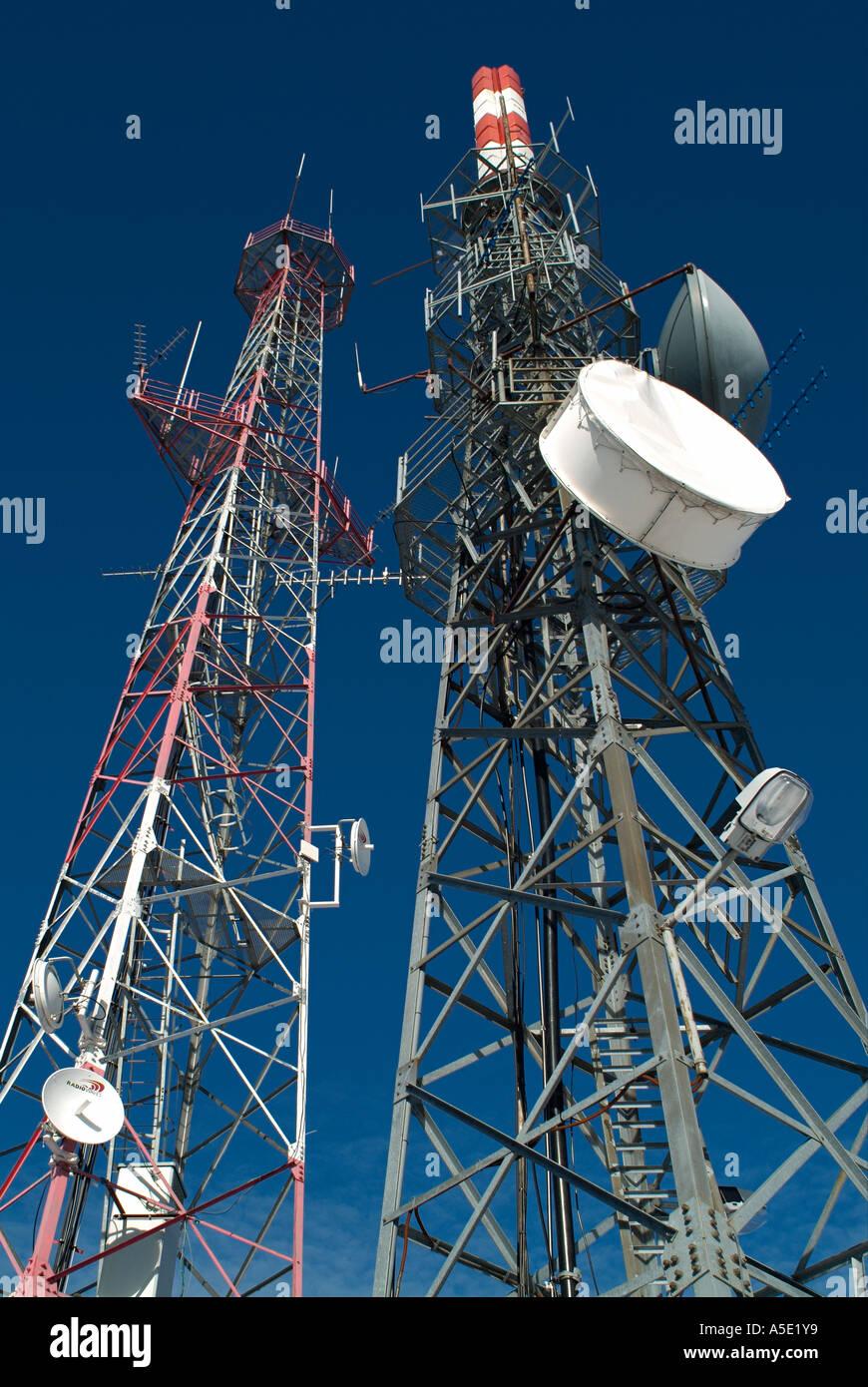 Transmitter Masts - Stock Image