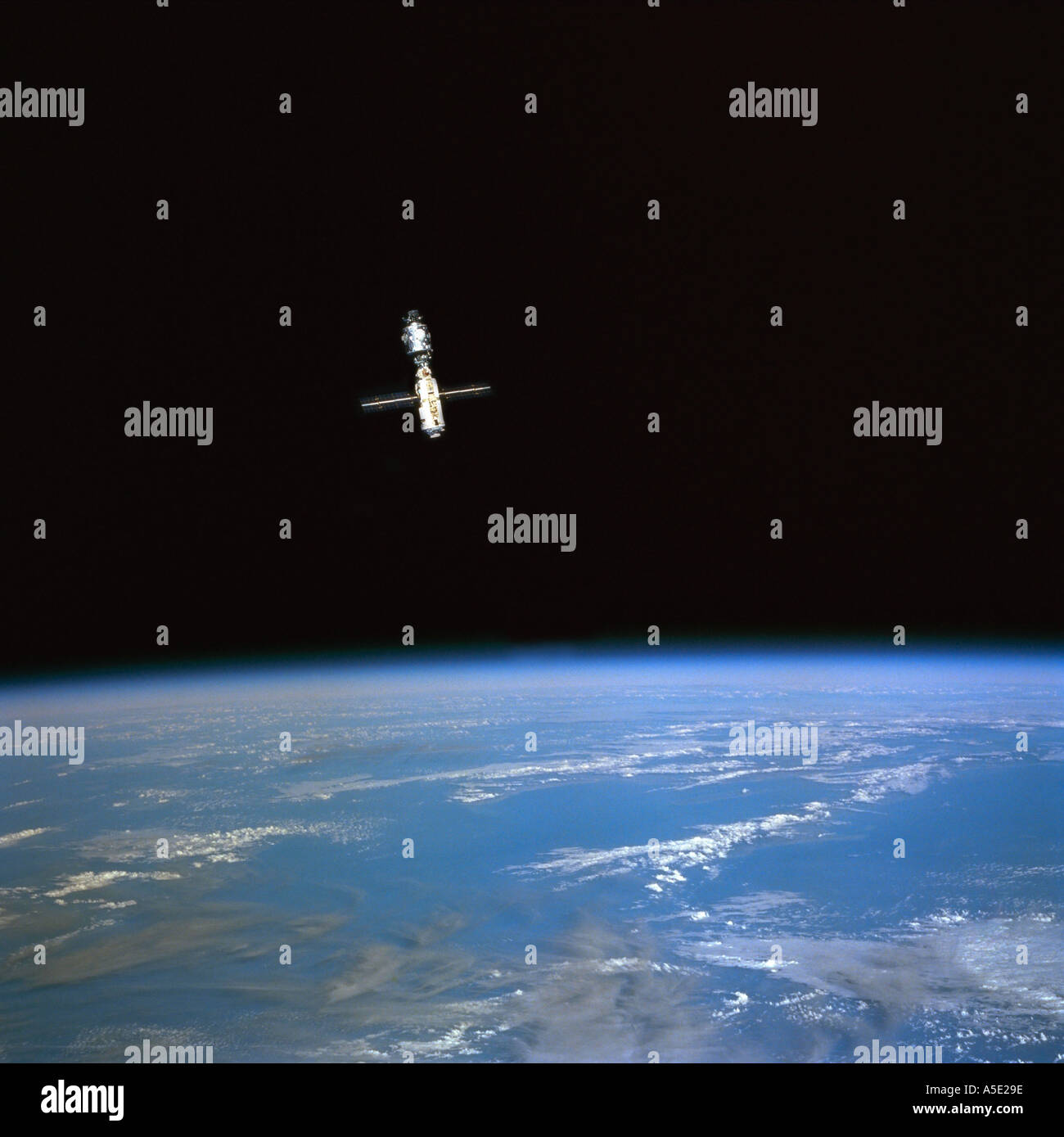 International Space Station orbiting the Earth Earth from Space - Stock Image