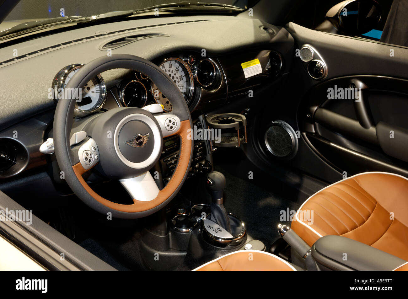 Interior Of The 2007 MINI Cooper S Sidewalk Convertible At The 2007