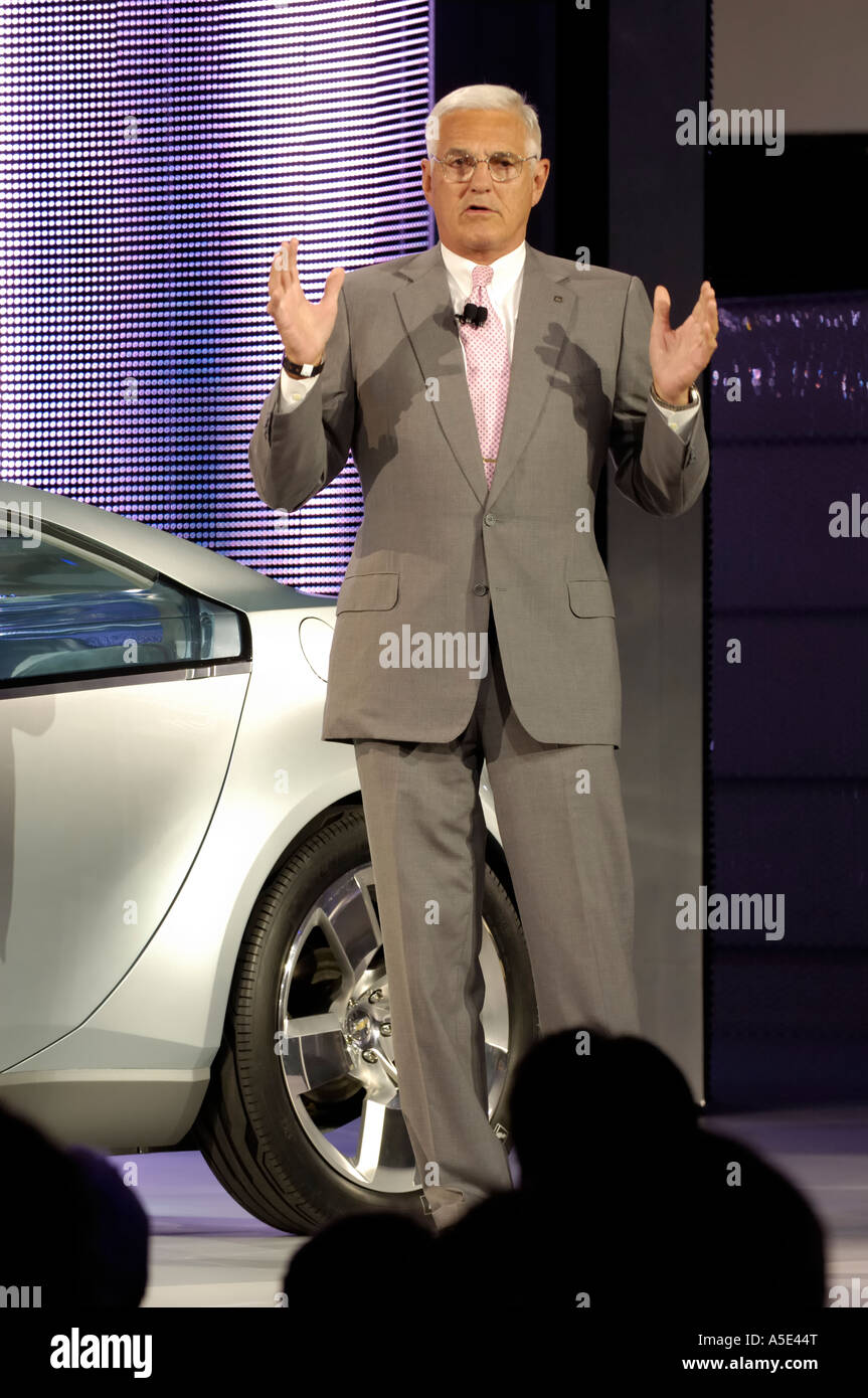 General Motors Vice Chairman Robert Lutz at the 2007 North American International Auto Show in Detroit Michigan - Stock Image