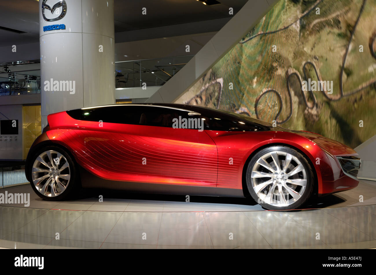 The Mazda Ryuga concept car at the North American International Auto ...