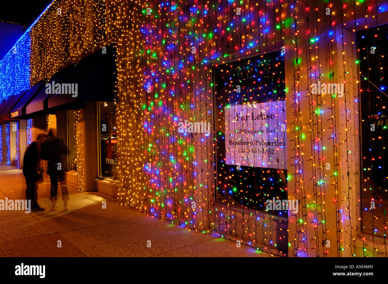 Christmas lights on buildings during the Big Bright Lights Show in ...