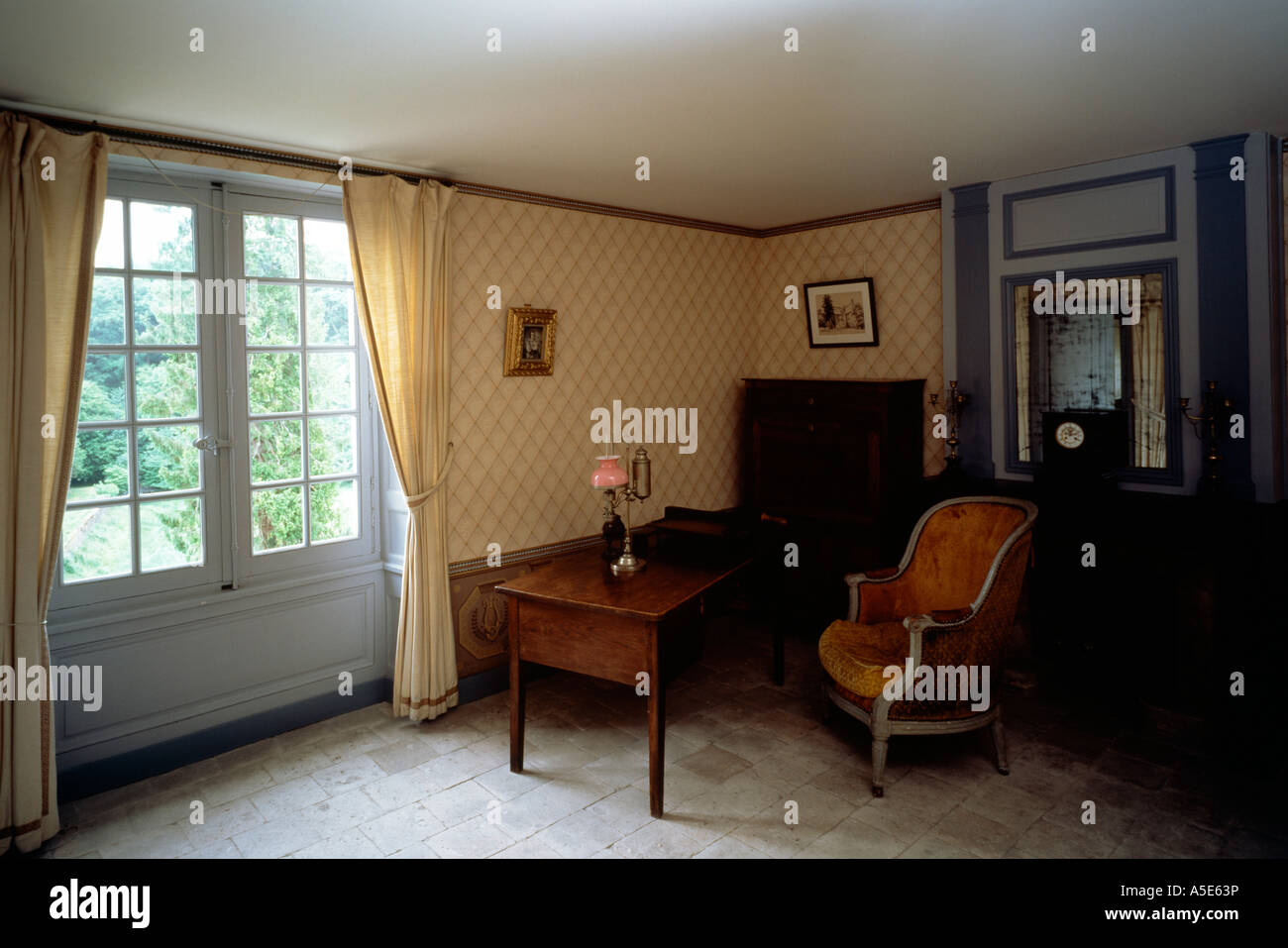 Saché, Schloß, Arbeitszimmer Balzacs Stock Photo